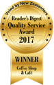 Reader's Digest Quality Service Award 2017 - Coffee Shop & Cafe