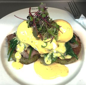 Our Local Favourites Menu: Rosti benedict